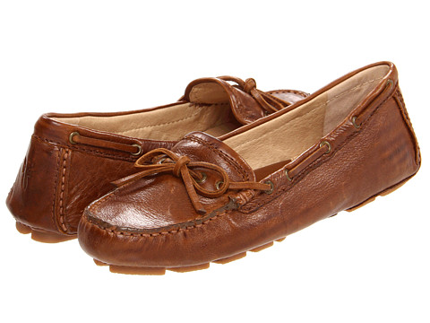 Frye - Reagan Campus Driver (Cognac Soft Vintage Leather) Women