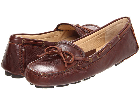 Frye Womens Reagan Campus Drivers Dark Brown Soft Vintage Leather - Boat Shoes