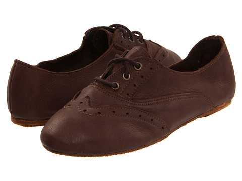 Walk-Over - Vintage Collection - Aubrey (Chocolate Harness) Women's Lace Up Wing Tip Shoes
