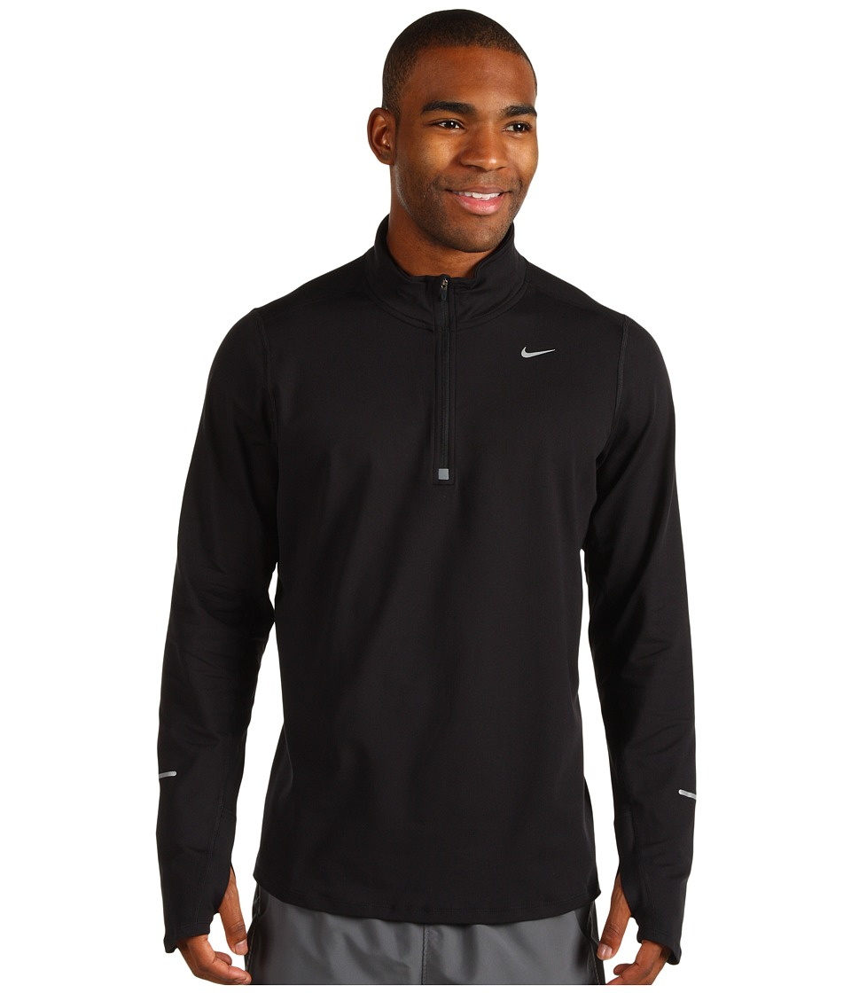 Nike - Element Half-Zip (Black/Reflective Silver) Men's Long Sleeve Pullover