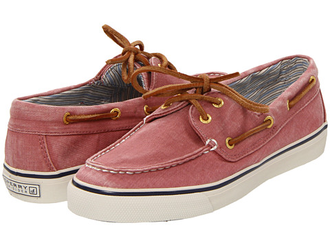Sperry Top-Sider - Bahama 2-Eye (Washed Red Salt/Washed Canvas) Women's Slip on Shoes