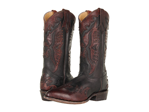 Frye - Billy Firebird (Black Stone Antiqued) Cowboy Boots