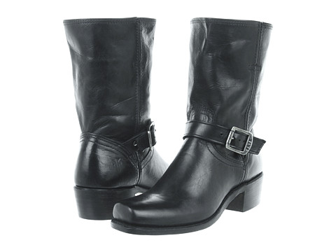 Frye - Cavalry Strap 8L (Black Antique Pull Up) Women's Pull-on Boots