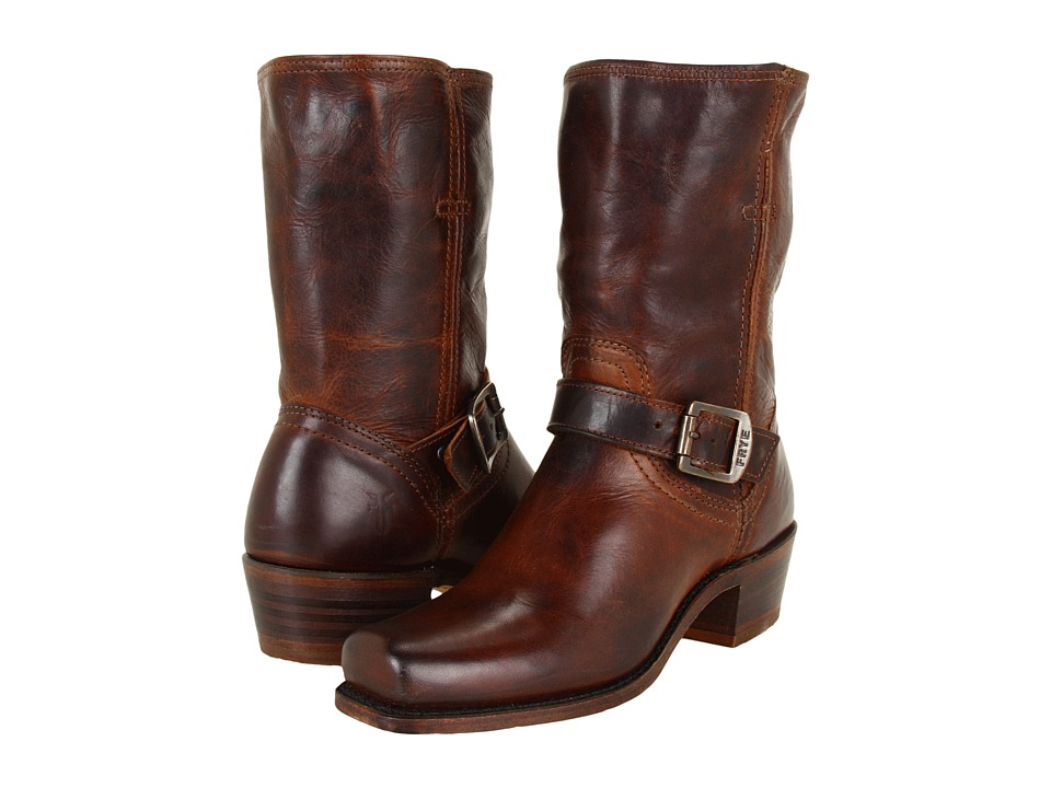 Frye - Cavalry Strap 8L (Dark Brown Antique Pull Up) Women's Pull-on Boots