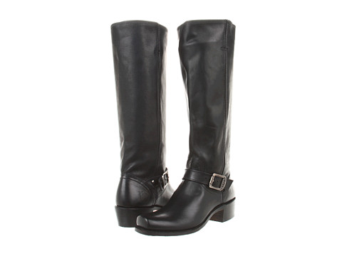 Frye - Cavalry Strap 15L (Black Antique Pull Up) Women's Pull-on Boots