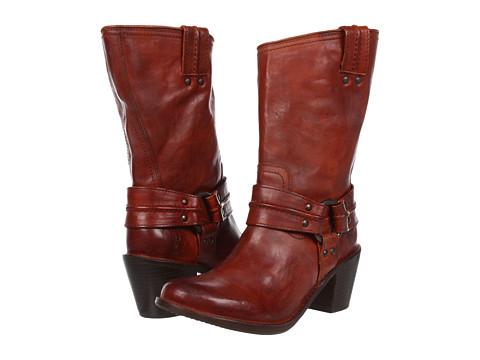 Frye - Carmen Harness Short (Whiskey Vintage Veg Tan) Cowboy Boots