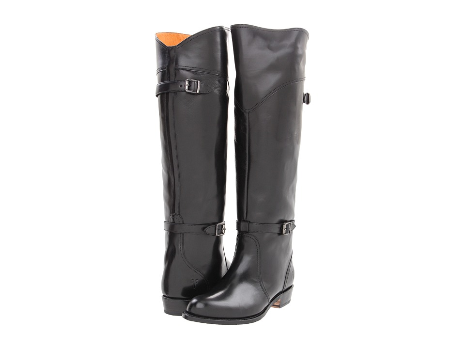 Frye - Dorado Riding (Black Smooth Polished Veg) Women