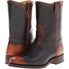 Frye Jet Boot Roper (Dark Brown Brush Off) Footwear