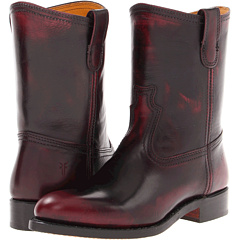 Frye Jet Boot Roper (Plum Brush Off) Footwear