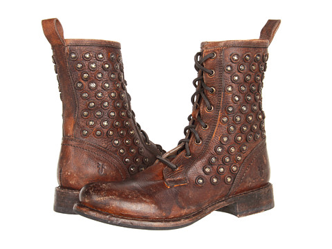 Frye - Jenna Disc Lace (Cognac Stone Antiqued) Women