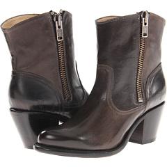 Frye Leslie Zip Bootie (Grey Vintage Veg Tan) Footwear