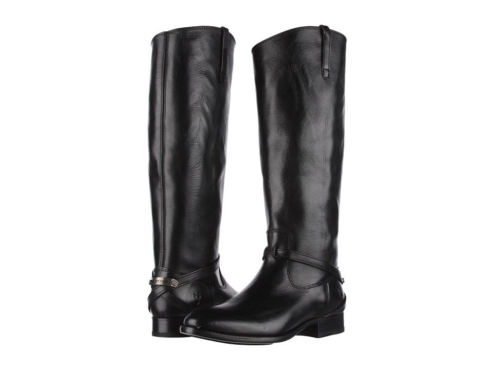 Frye - Lindsay Plate (Black Smooth Full Grain) Women's Pull-on Boots