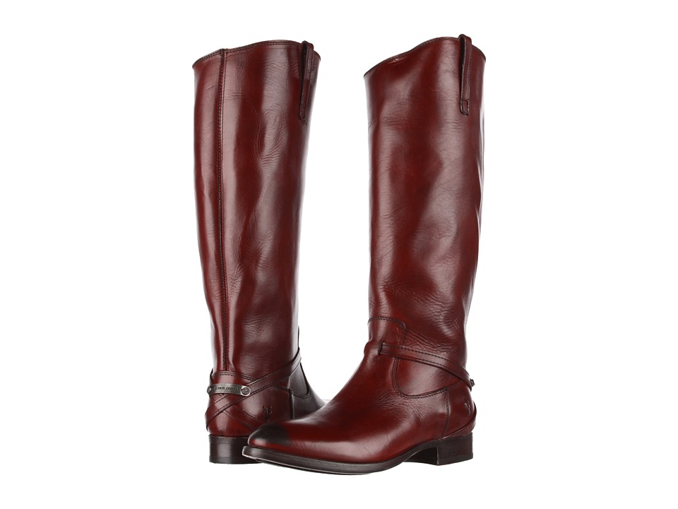 Frye - Lindsay Plate (Burnt Red Smooth Full Grain) Women's Pull-on Boots