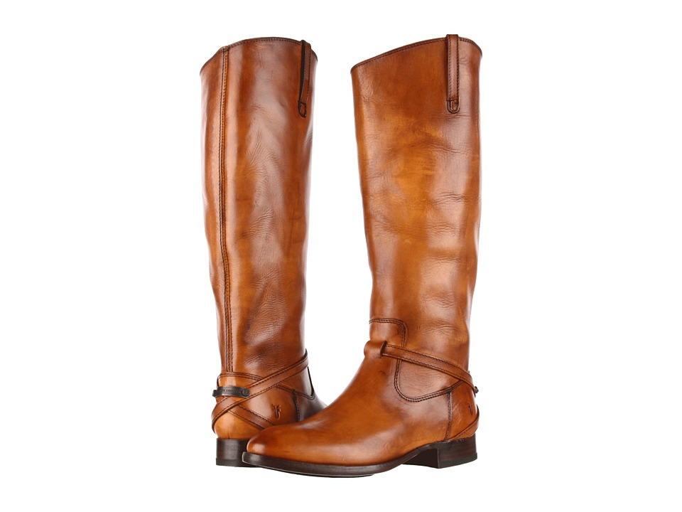 Frye - Lindsay Plate (Tan Smooth Full Grain) Women's Pull-on Boots