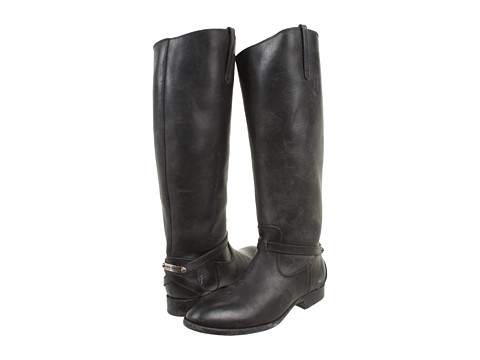 Frye - Lindsay Plate (Black Stone Antiqued) Women's Pull-on Boots