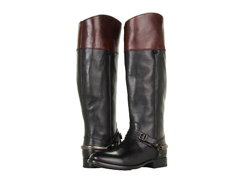 Frye - Lindsay Spur (Black Multi Smooth Full Grain) Cowboy Boots