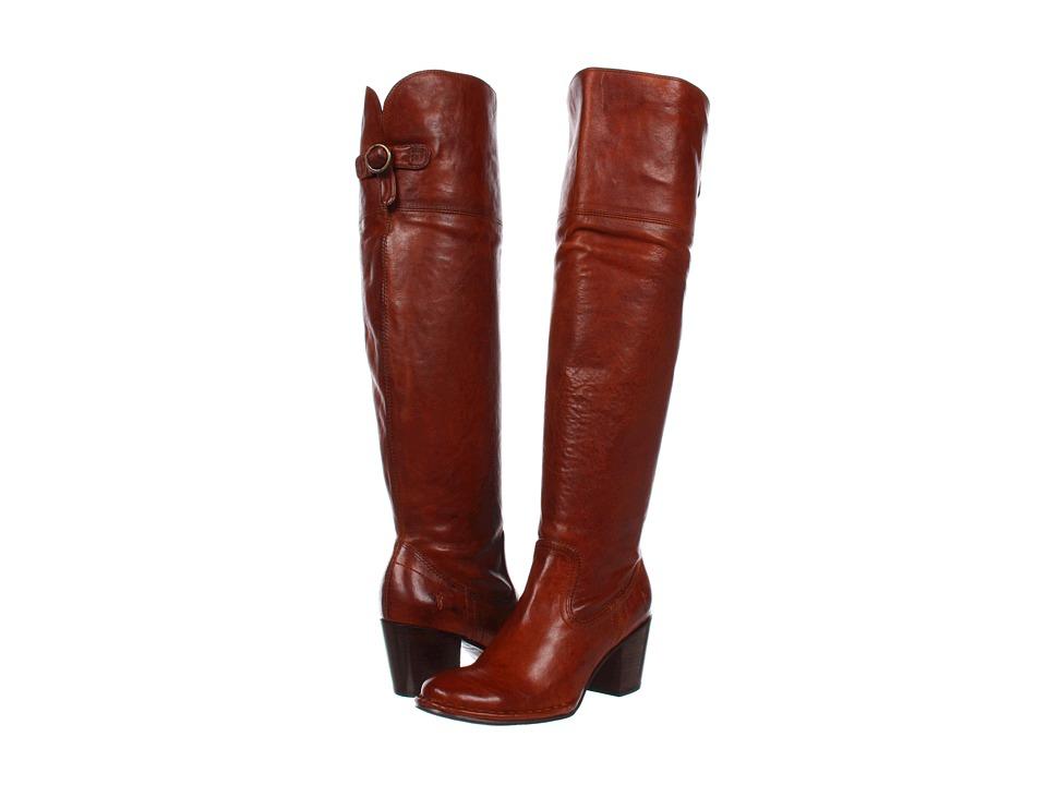 Frye - Lucinda Slouch (Whiskey Vintage Veg Tan) Cowboy Boots