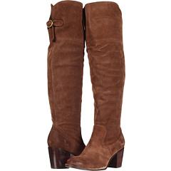 Frye Lucinda Slouch (Dark Brown Suede) Footwear