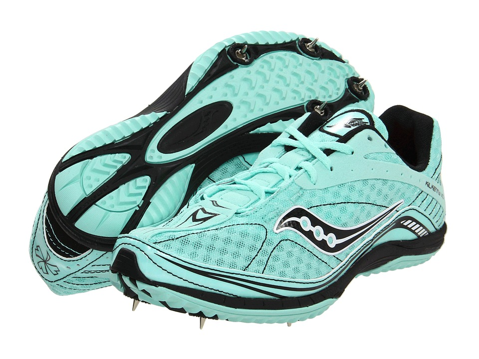 Saucony - Kilkenny XC4 (Spike) (Aqua/Black) Women's Running Shoes