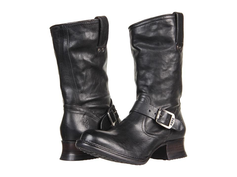 Frye - Martina Engineer Short (Black Vintage Veg Tan) Women's Pull-on Boots