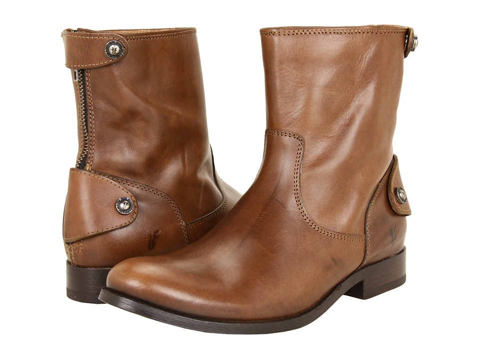 Frye - Melissa Button Zip Short (Fawn Soft Vintage Leather) Women