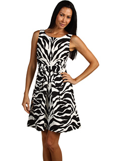 SALE! $219.99 - Save $218 on Kate Spade New York Jillian Dress (Black Vertical Zebra) Apparel - 49.77% OFF $438.00