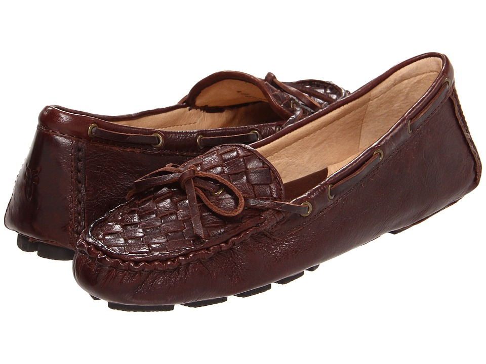 Frye - Reagan Woven (Dark Brown Soft Vintage Leather) Women's Slip on Shoes