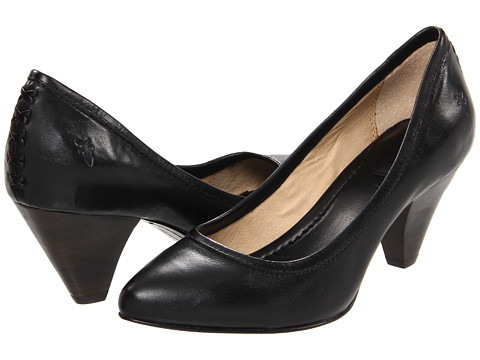 Frye - Regina Pump (Black Soft Vintage Leather) High Heels