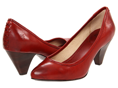 Frye - Regina Pump (Burnt Red Soft Vintage Leather) High Heels