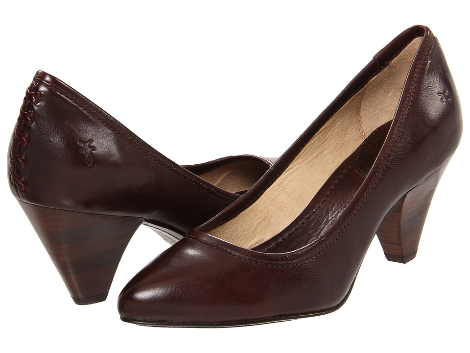 Frye - Regina Pump (Dark Brown Soft Vintage Leather) High Heels