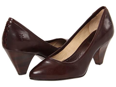 Frye - Regina Pump (Dark Brown Soft Vintage Leather) High Heels