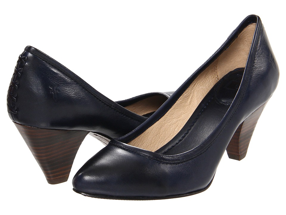 Frye - Regina Pump (Navy Soft Vintage Leather) High Heels
