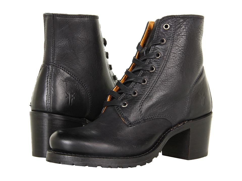Frye - Sabrina 6G Lace Up (Black Dakota) Women's Lace-up Boots