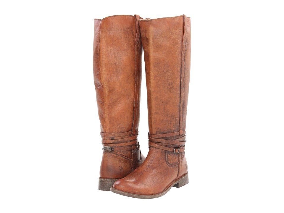 Frye - Shirley Riding Plate (Cognac Stone Wash) Cowboy Boots