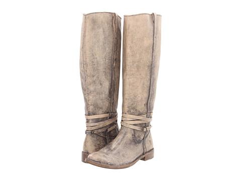 Frye - Shirley Riding Plate (Stone Stone Wash) Cowboy Boots