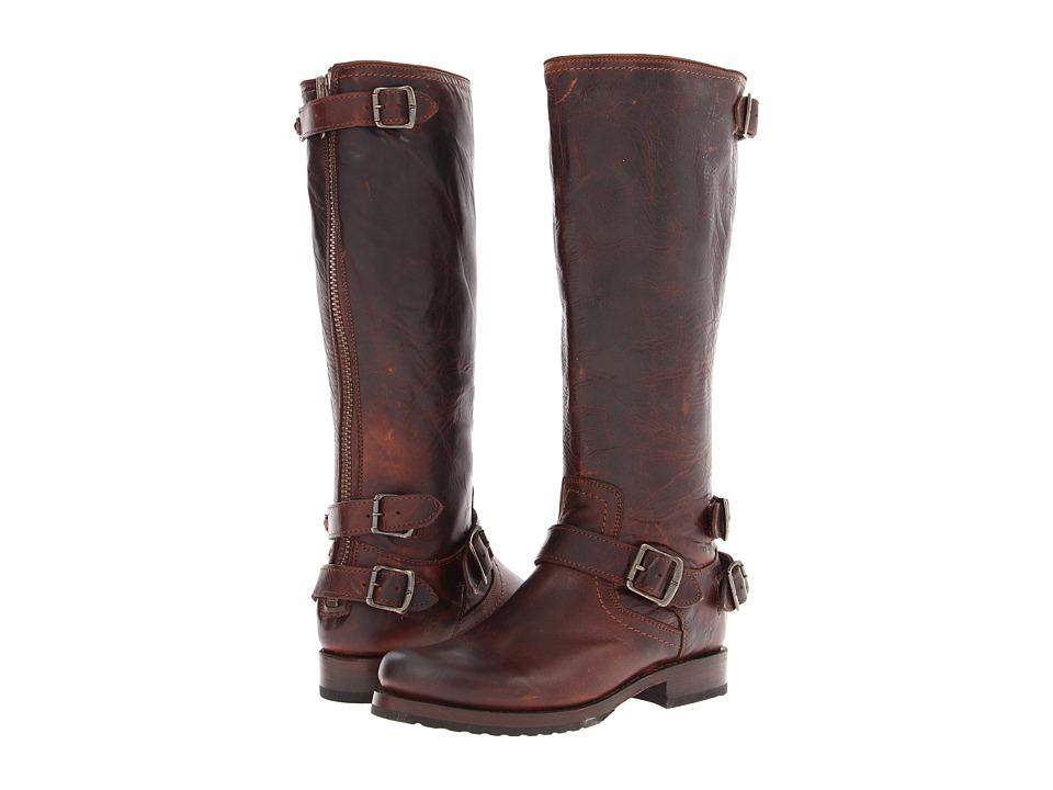 Frye - Veronica Back Zip (Dark Brown Antique Pull Up) Women's Zip Boots