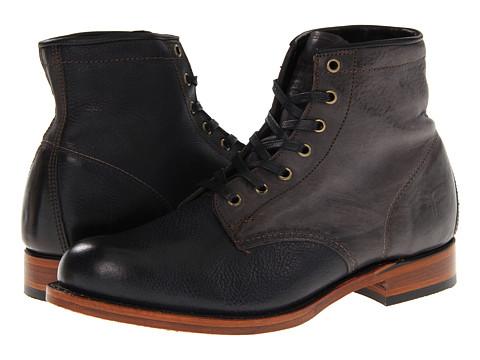 Frye - Arkansas Mid Leather (Black Soft Pebbled Full Grain) Men