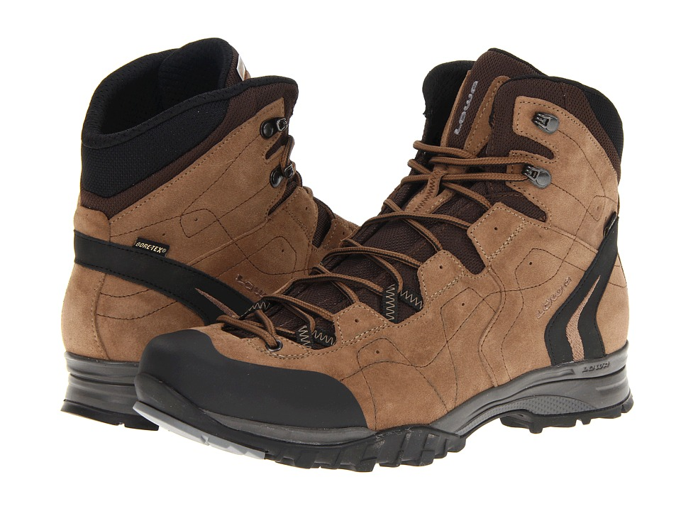 Lowa - Focus GTX Mid (Brown/Beige) Men's Hiking Boots
