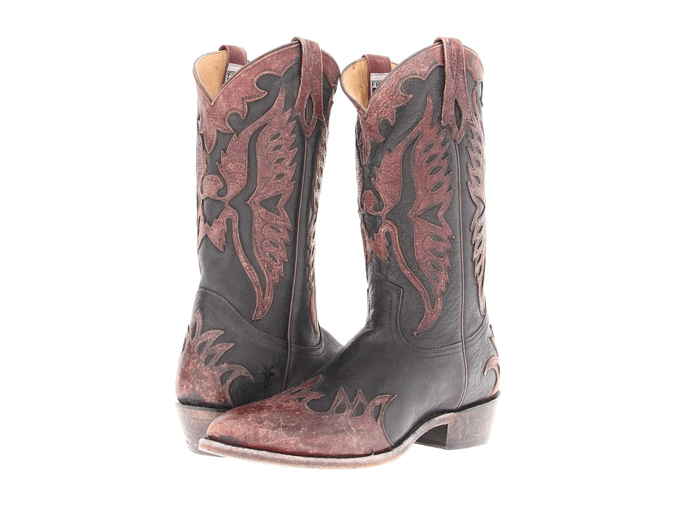 Frye - Billy Firebird (Black Stone Antiqued) Cowboy Boots