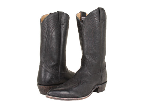 Frye - Billy Pull On (Black Stone Antiqued) Cowboy Boots