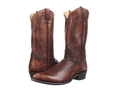 Frye - Billy Pull On (Cognac Stone Antiqued) Cowboy Boots