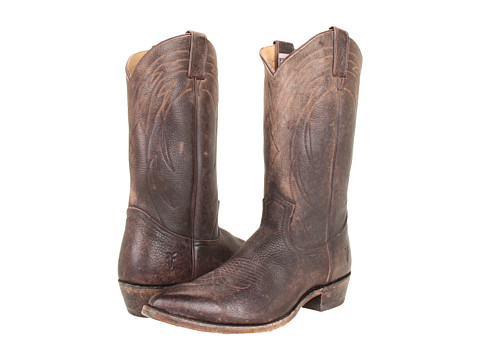 Frye - Billy Pull On (Dark Brown Stone Antiqued) Cowboy Boots