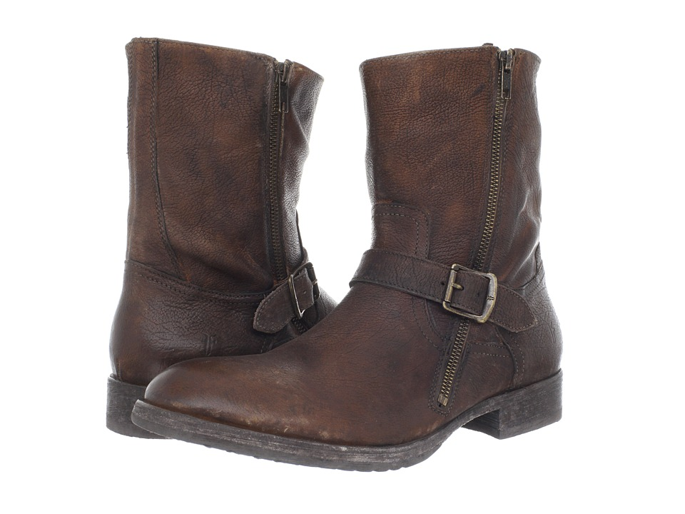 Frye - Dean Engineer (Cognac Stone Antiqued) Men's Zip Boots