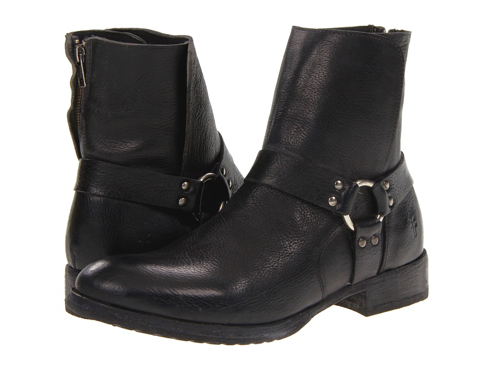Frye Dean Harness (Black Stone Antiqued) Men