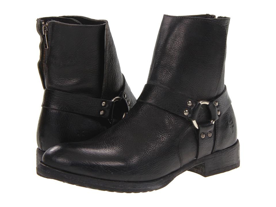 Frye - Dean Harness (Black Stone Antiqued) Men's Zip Boots