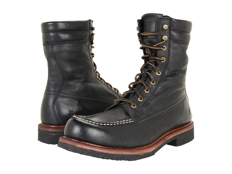 Frye Dakota Crepe Tall (Black Tumbled Full Grain) Men