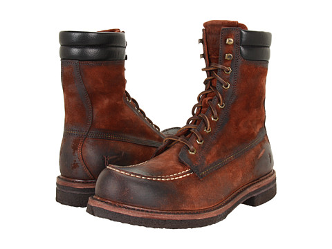 Frye - Dakota Crepe Tall (Cognac Suede) Men's Lace-up Boots