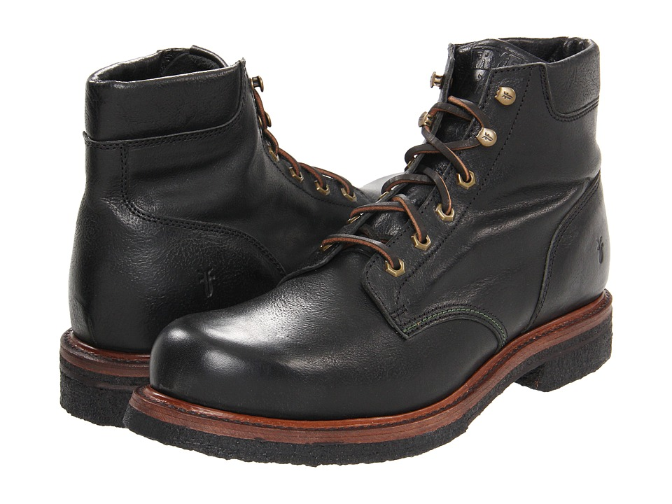 Frye - Dakota Crepe Plain Toe (Black Tumbled Full Grain) Men