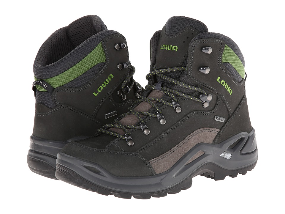 Lowa - Renegade GTX Mid (Light Grey/Green Gecko) Men's Hiking Boots