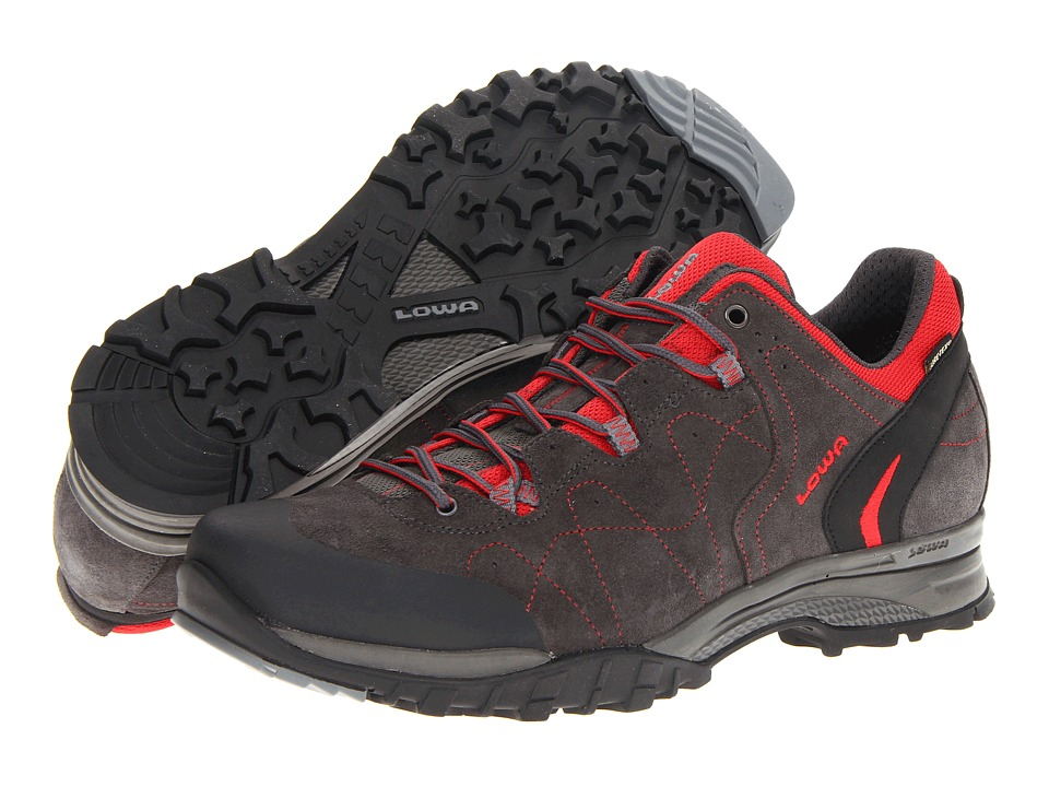 Lowa - Focus GTX Lo (Anthracite/Red) Men's Hiking Boots